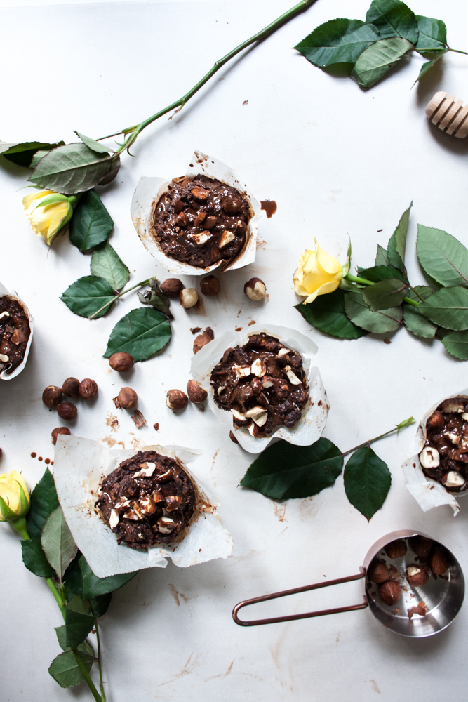 These Gluten Free Chocolate Hazelnut Muffins are naturally sweetened, with melt in your mouth consistency. Simple to make plus low FODMAP and vegan.