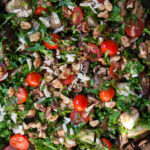 Roasted Aubergine and Courgette Salad