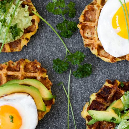 Gluten Free savory veggie waffles