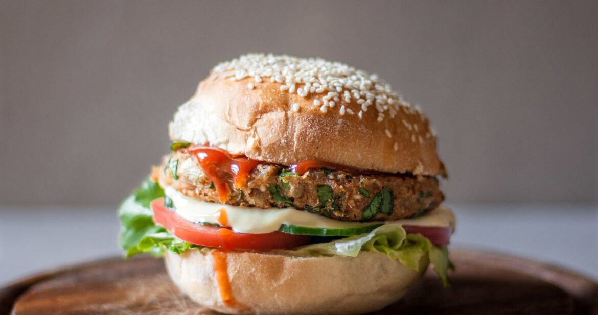 Food Photography Veggie Burger