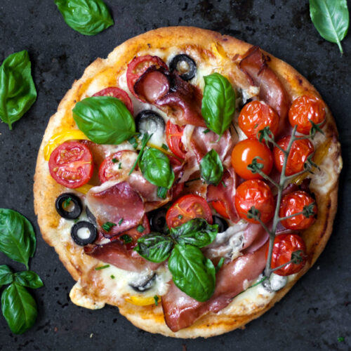 Gluten Free Yeast Free Pizza.Food Photography