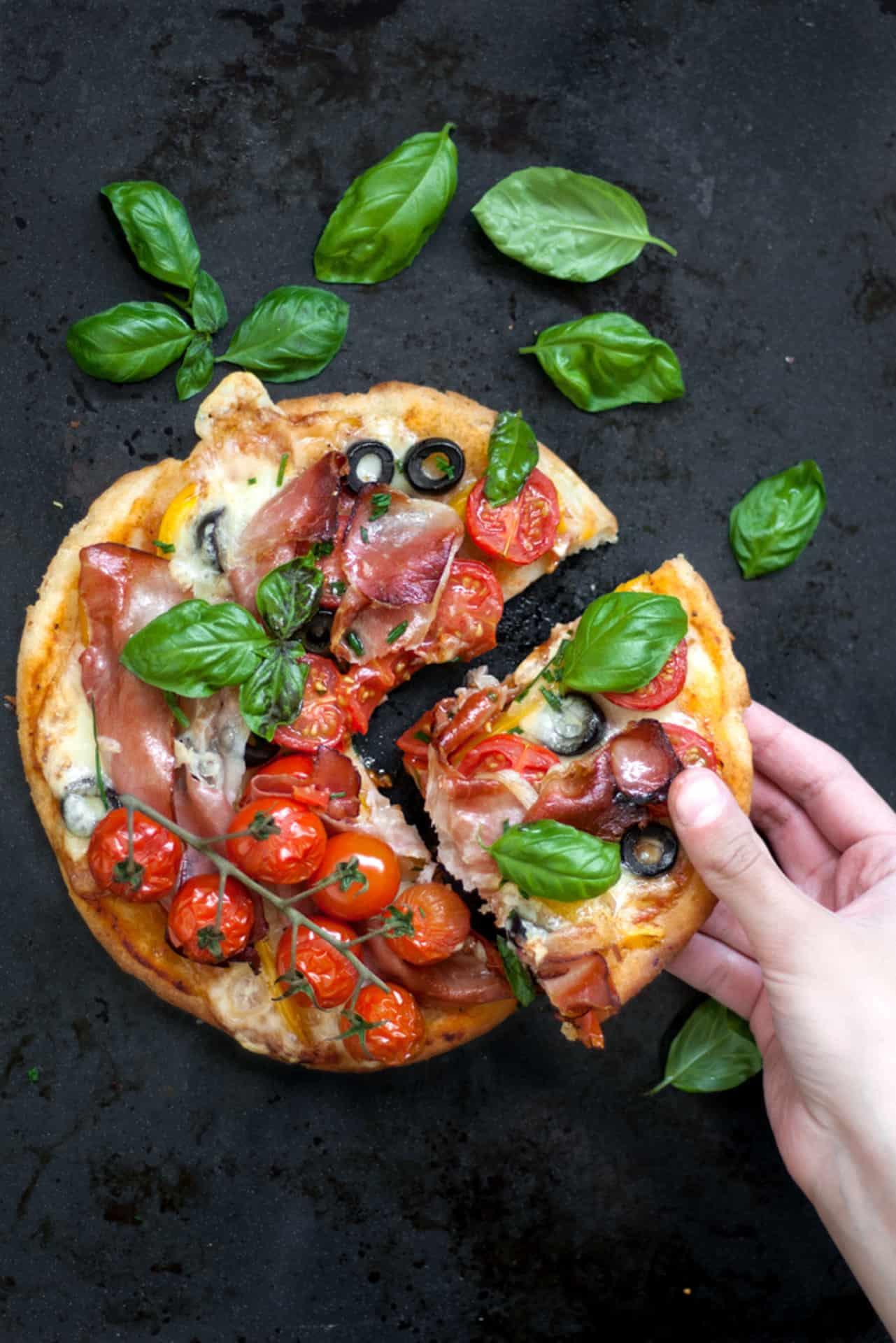 Gluten Free Yeast Free Pizza.