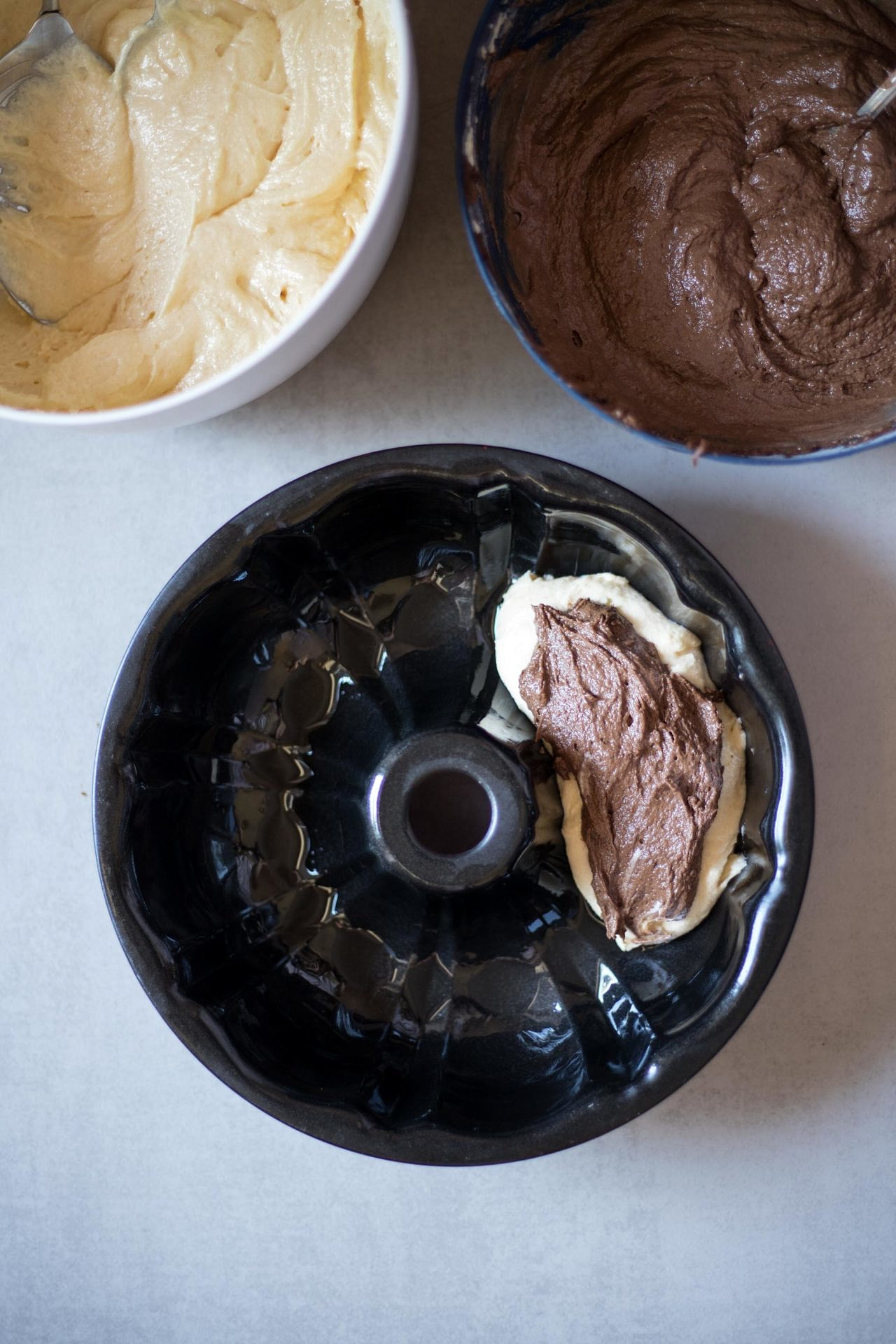 How to make marble cake | Step-by-step instructions