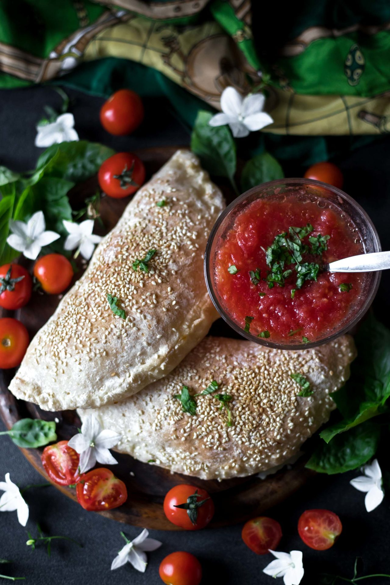 This Gluten-Free Calzone is low FODMAP and easy to digest. It is super flavorful and has a perfect texture crispy on the outside and chewy on the inside.