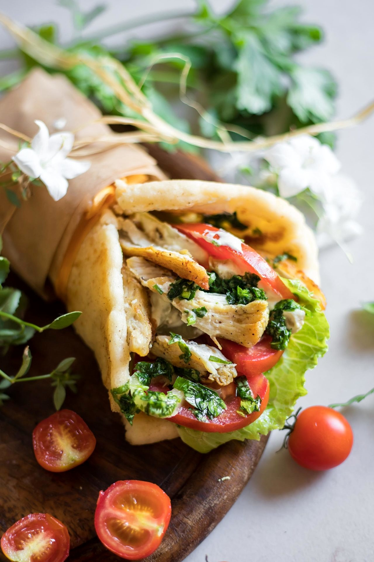 This Gluten Free Chicken Gyro is low FODMAP, super flavorful, light, easy to digest and beyond delicious.