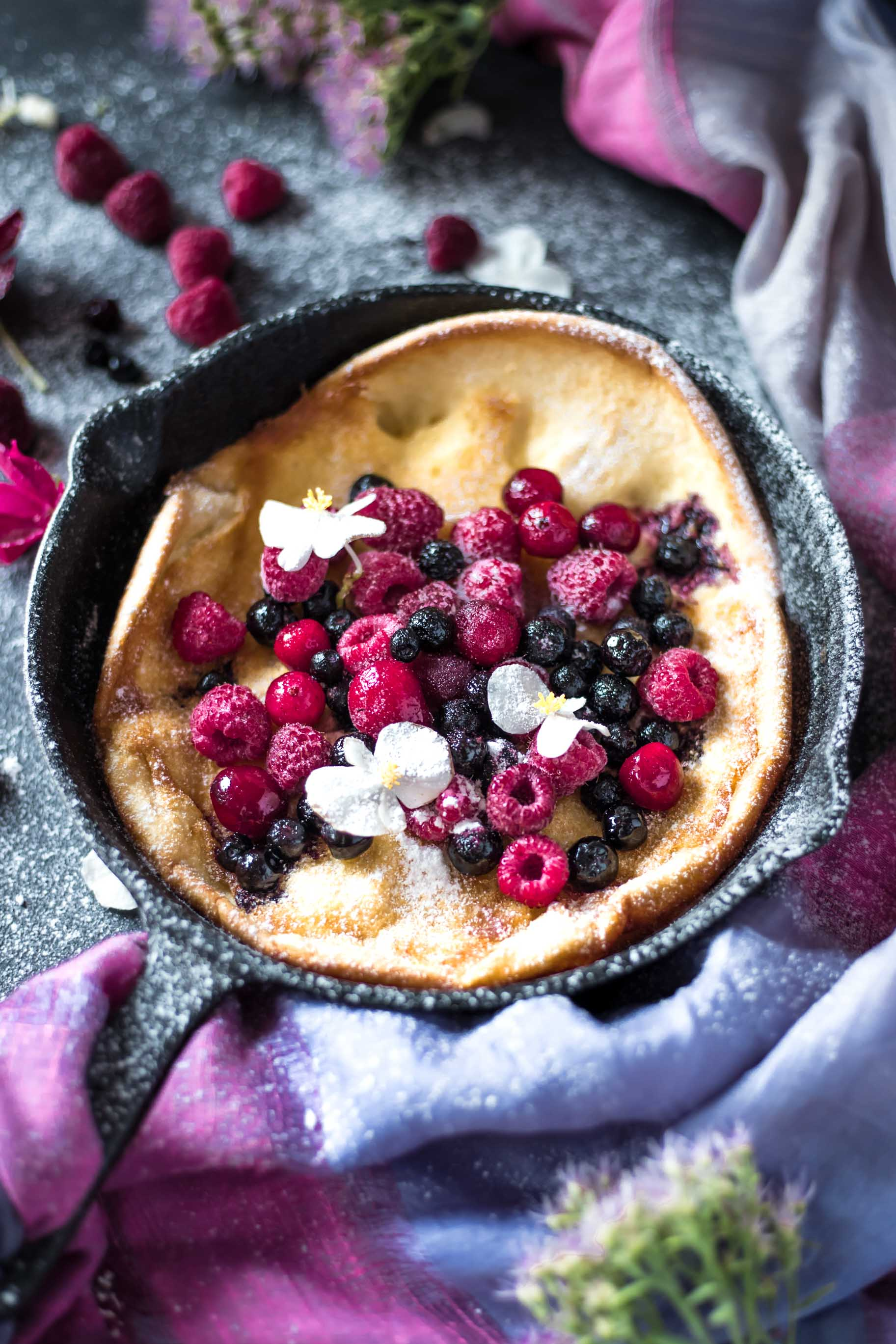This Gluten-Free Dutch Baby is low FODMAP, light, fluffy, rich and so yum! It makes a filling, satisfying breakfast or brunch.