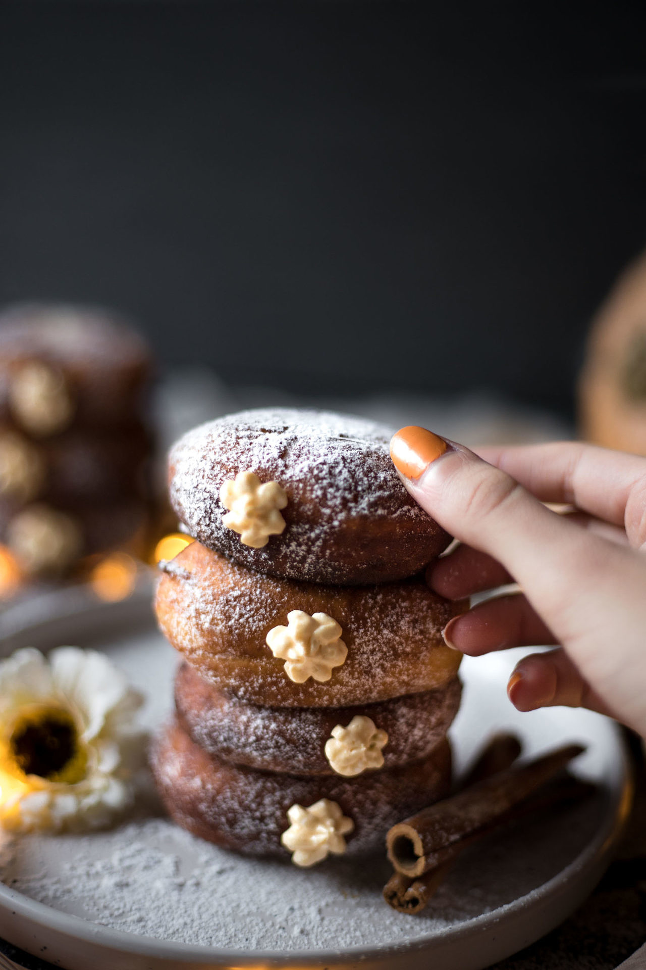 These Gluten-Free Yeast-Raised Doughnuts with Pumpkin Filling are super light, airy and soft. The pumpkin filling is super creamy and perfectly spiced.