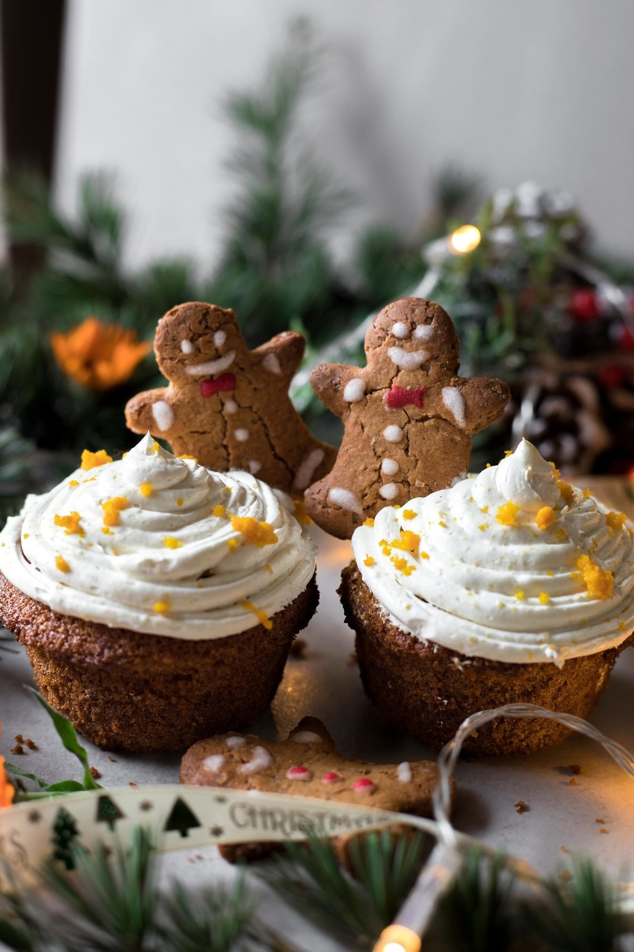 These low FODMAP & gluten-free gingerbread cupcakes are tender and soft, perfectly sweetened, spiced and super delicious.