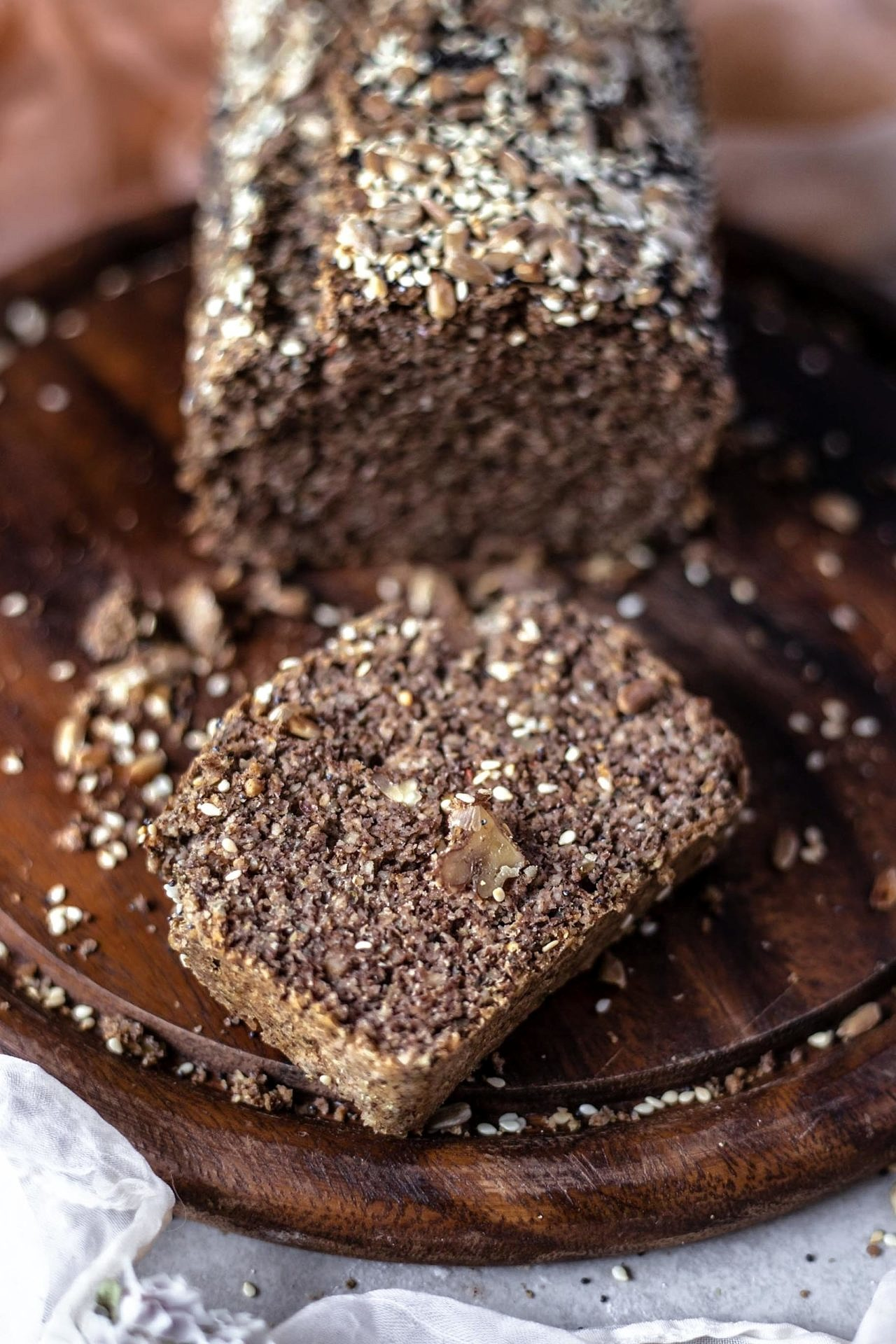 This gluten-free superfood bread is rich, wholesome, nutty, flavorful with a wonderfully soft texture. It's perfect for breakfast or mid-day snack.