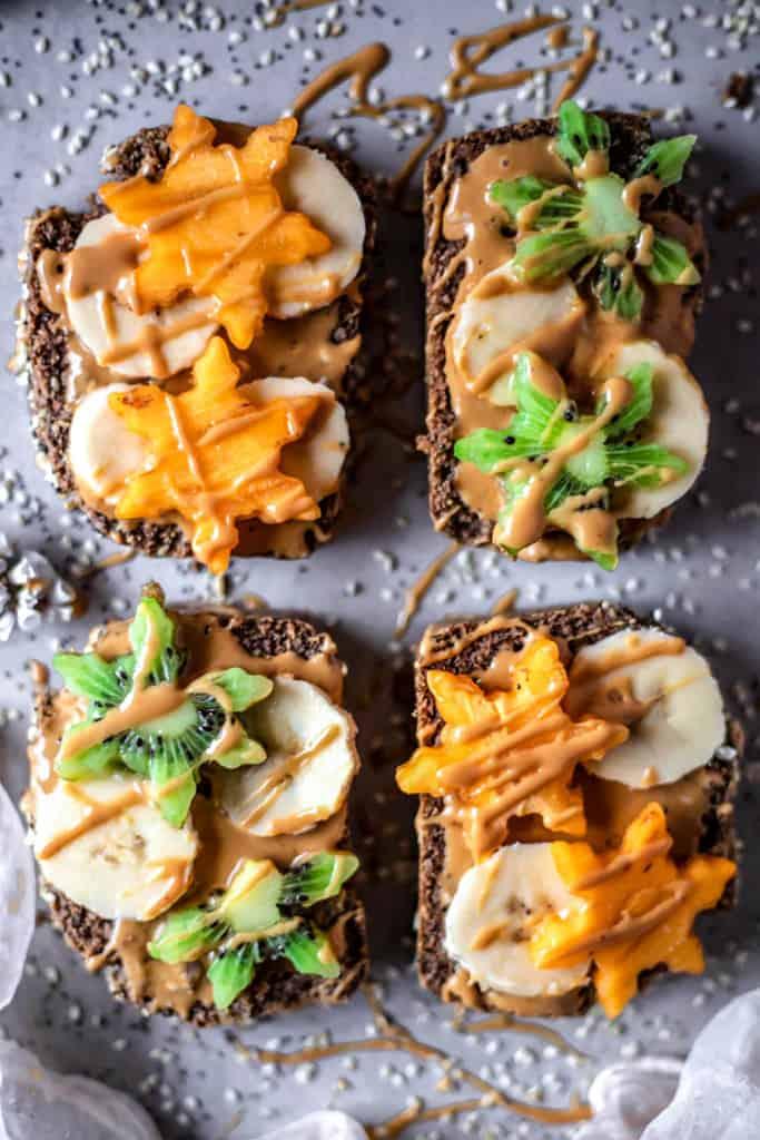 Gluten free peanut butter toasts