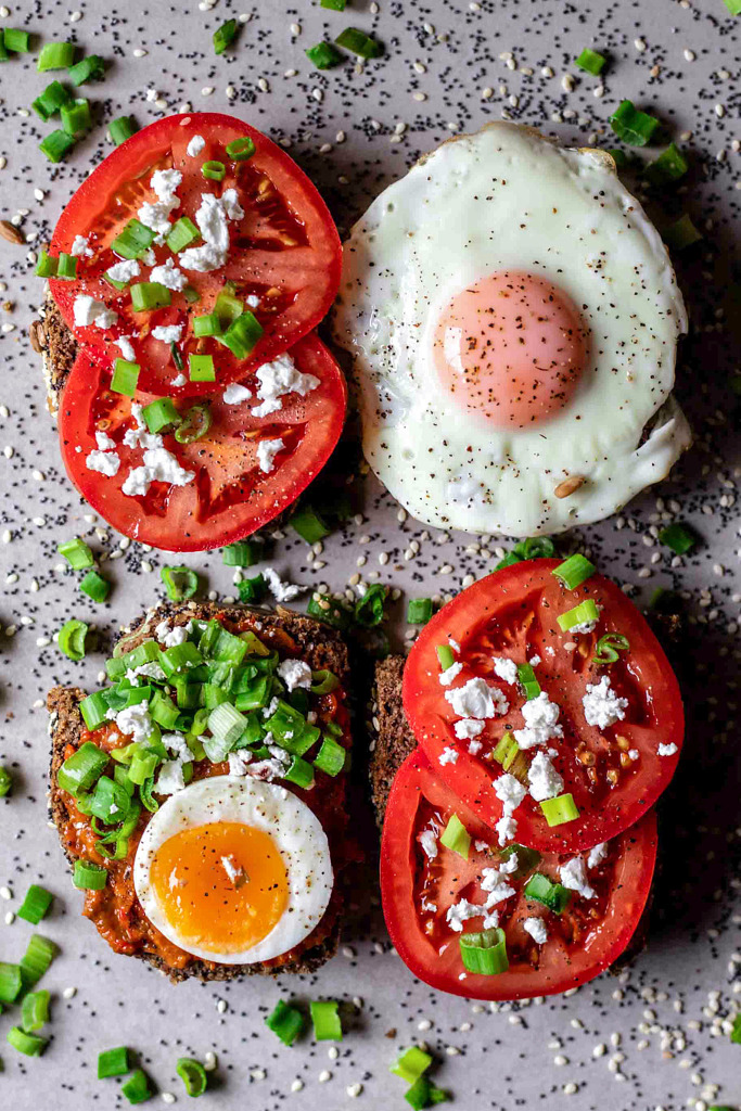 Gluten free veggie and egg toasts