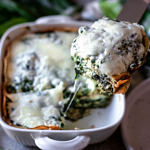 Crepes Lasagna with Spinach & Ricotta Cheese