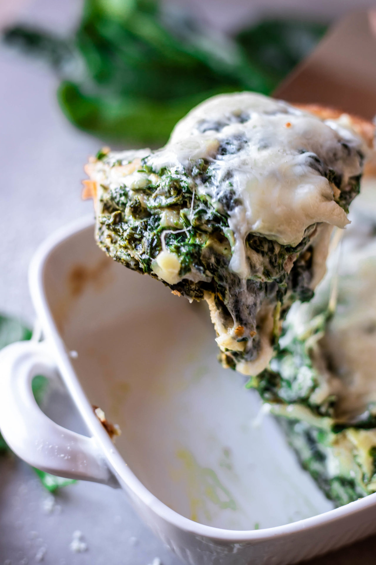 This Crepes Lasagna with Spinach & Ricotta Cheese  is so flavorful, cheesy, spinach infused, super creamy, healthy, very simple to make and beyond delicious! Plus it is completely gluten-free and Low FODMAP.