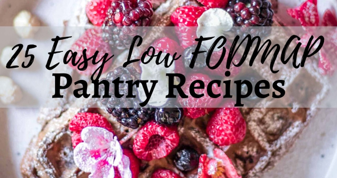 25 Easy Low FODMAP Pantry Recipes. These recipes are super simple to make, require only canned foods, frozen vegetables or fruits, and other pantry staples.