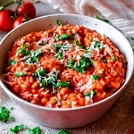 Low FODMAP Creamy Tomato Risotto