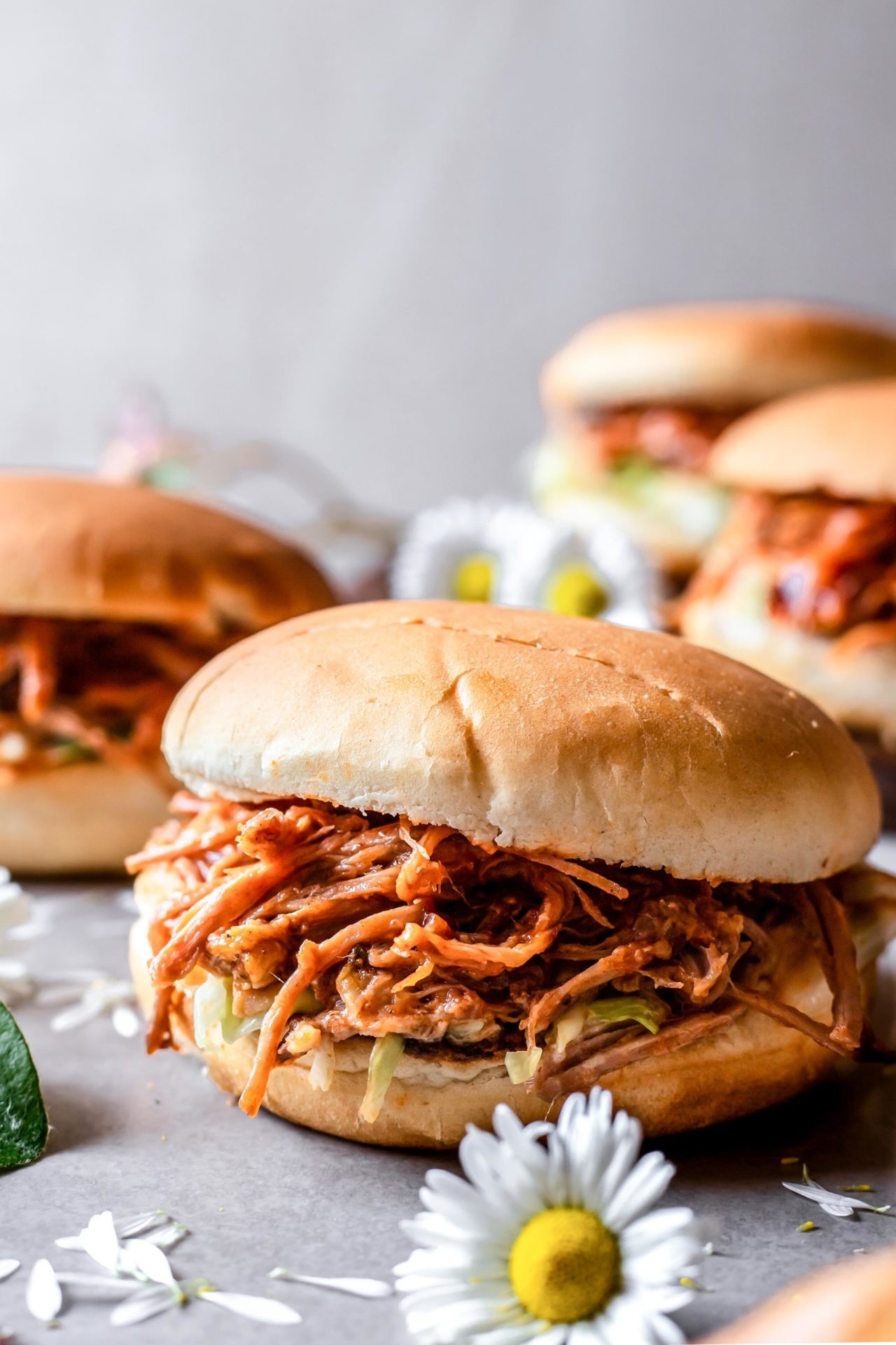 These Low FODMAP Pulled Pork Sliders are hearty, satisfying, BBQ Infused, smokey, flavorful, incredibly delicious, and super easy to make!