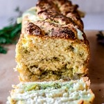Gluten Free Mozzarella and Pesto Stuffed Bread