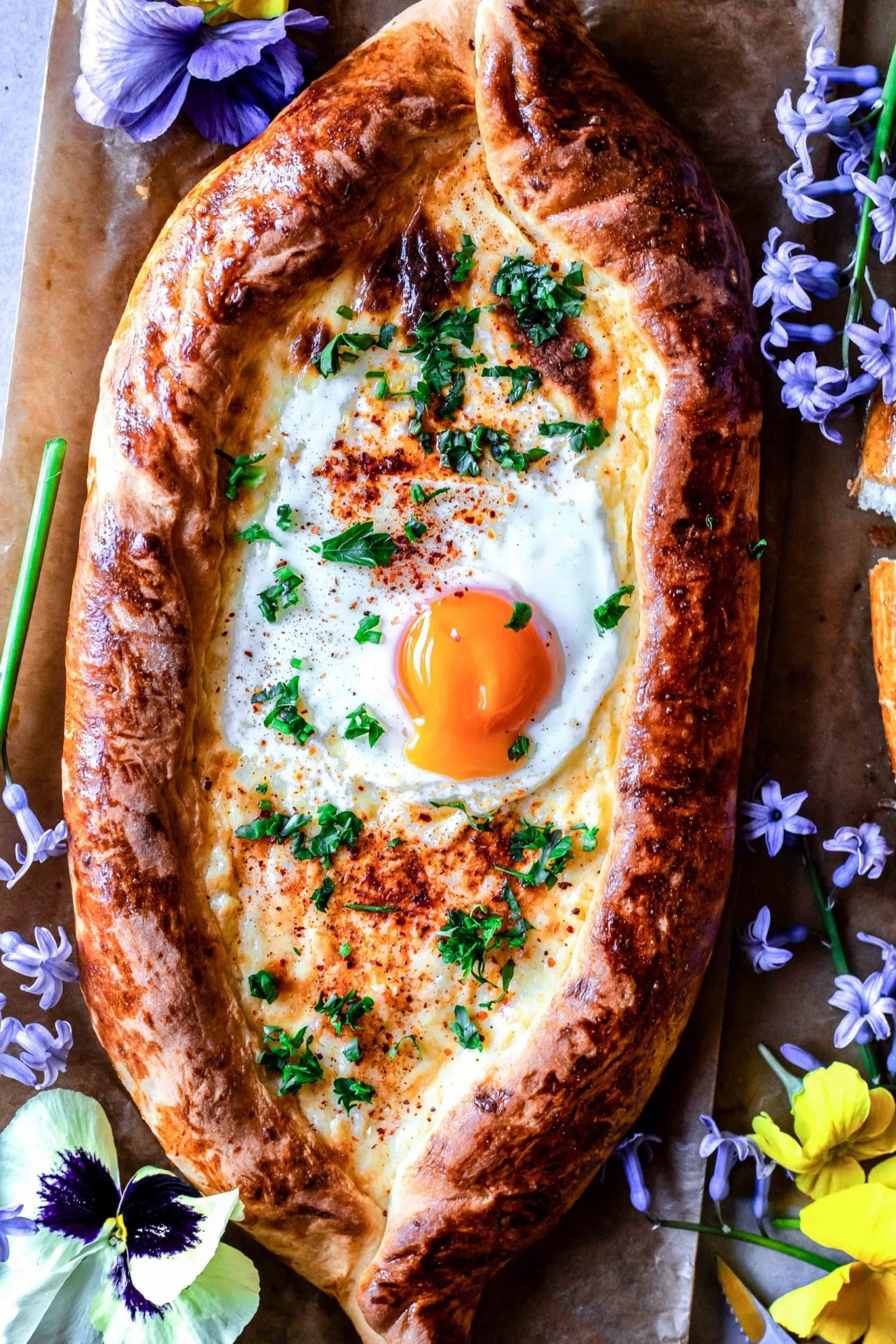 This Gluten Free Khachapuri (Georgian cheese bread) is so cheesy, super flavorful, savory, comforting, satisfying, soft, and so delicious!