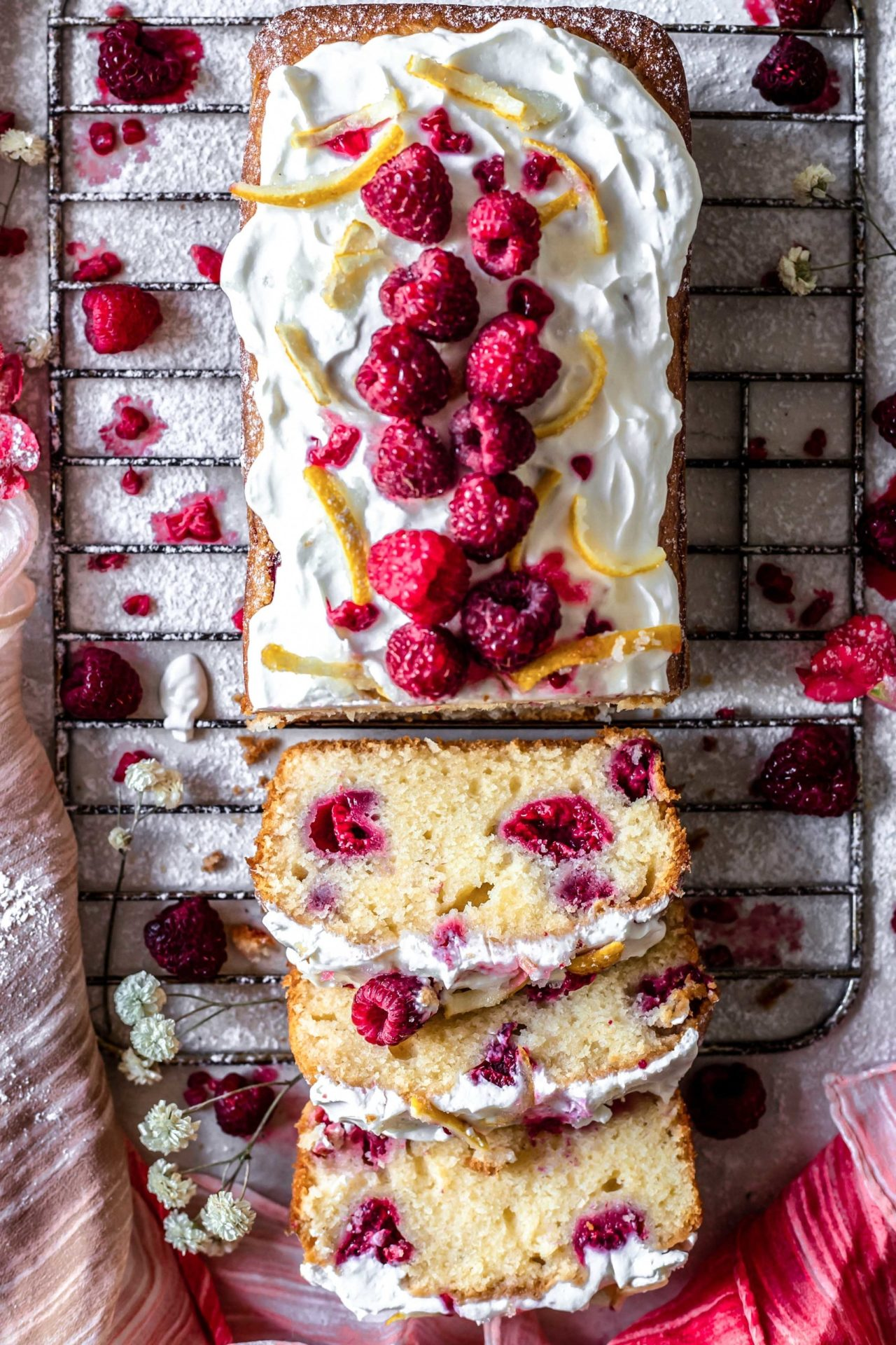 This Gluten-Free Lemon and Raspberry Loaf Cake is light, fluffy, perfectly sweetened, lemony, flavorful and so delicious!