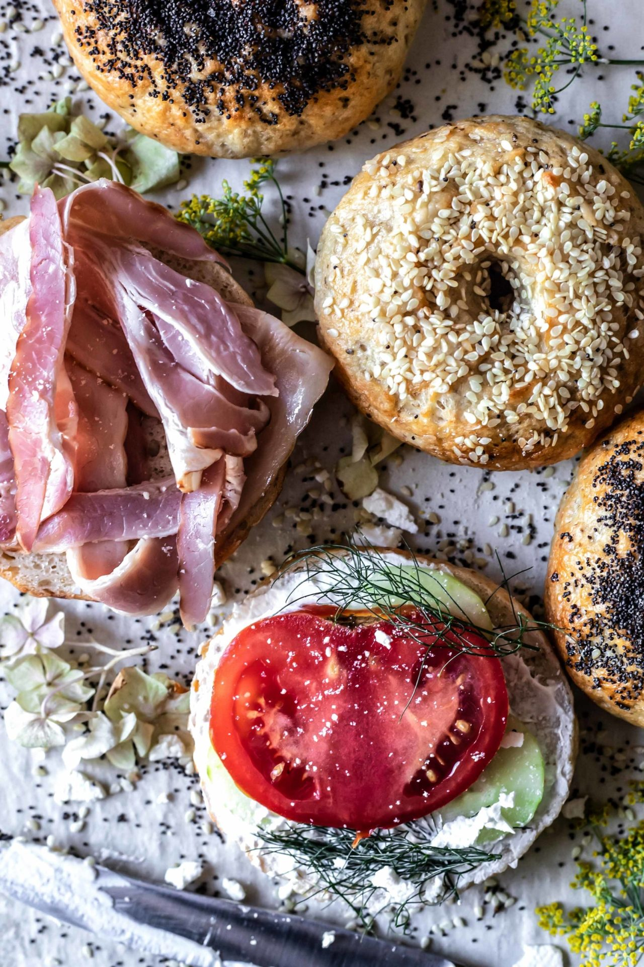 These Gluten-Free Bagels are extra chewy, simple, savory, tender and so delicious. Plus they are easy to digest and low FODMAP.