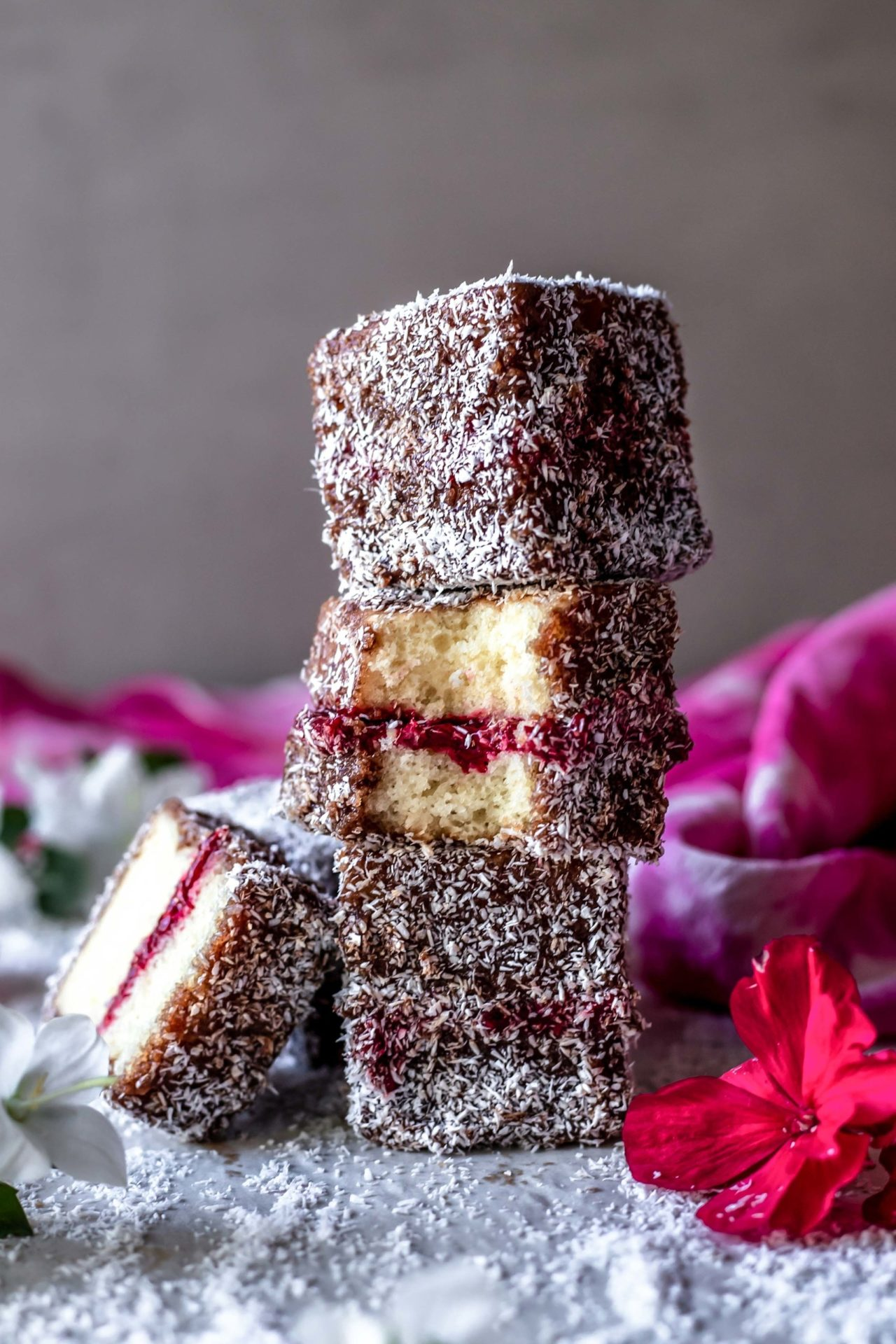 These Gluten-Free Lamingtons are spongy, soft, buttery, jam-infused, flavorful, perfectly sweetened and so delicious!
