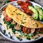 Low FODMAP Veggie Omelet