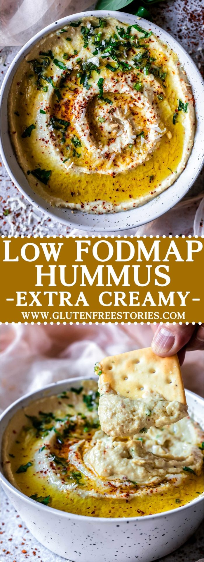 This Low FODMAP Hummus is extra creamy and smooth, super flavourful, very simple to make and so delicious!