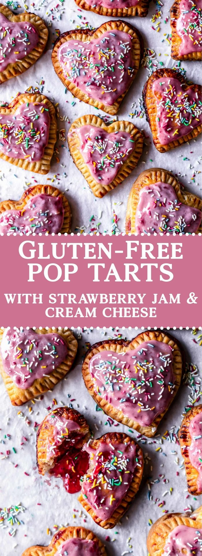 These Gluten-Free Pop-Tarts are flaky, buttery, and filled with the most delicious combo of cream cheese and strawberry jam.