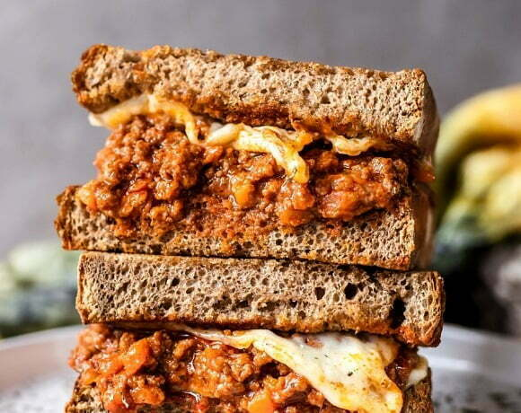 Bolognese Grilled Cheese Sandwich