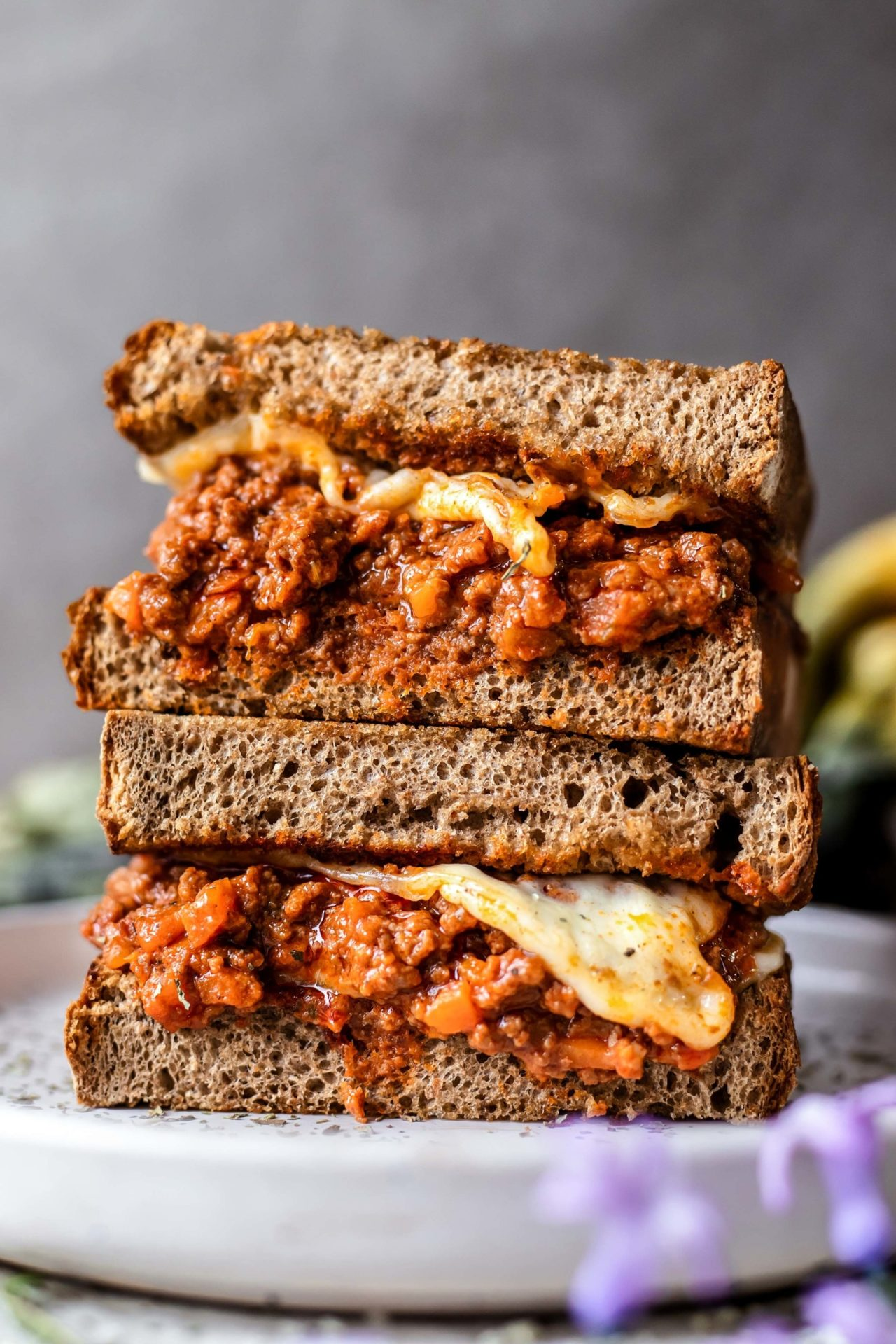 This Bolognese Grilled Cheese Sandwich is easy to make, super flavorful, filling, cheesy and the ultimate comfort food!